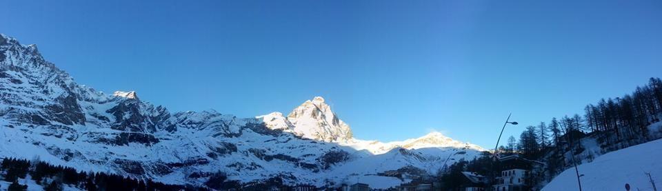 panoramica del #Cervino 02.01.2015 photo by Hotel Miravidi