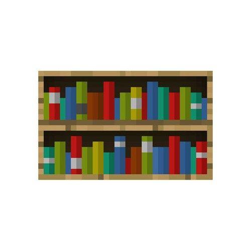 X  Minecraft Bookshelf Vinyl Wall Decal Minecraft Pinterest - Bookshelves minecraft