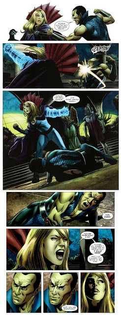 Namor vs Sue by Steve Epting #steveepting #namor #invisiblewoman
