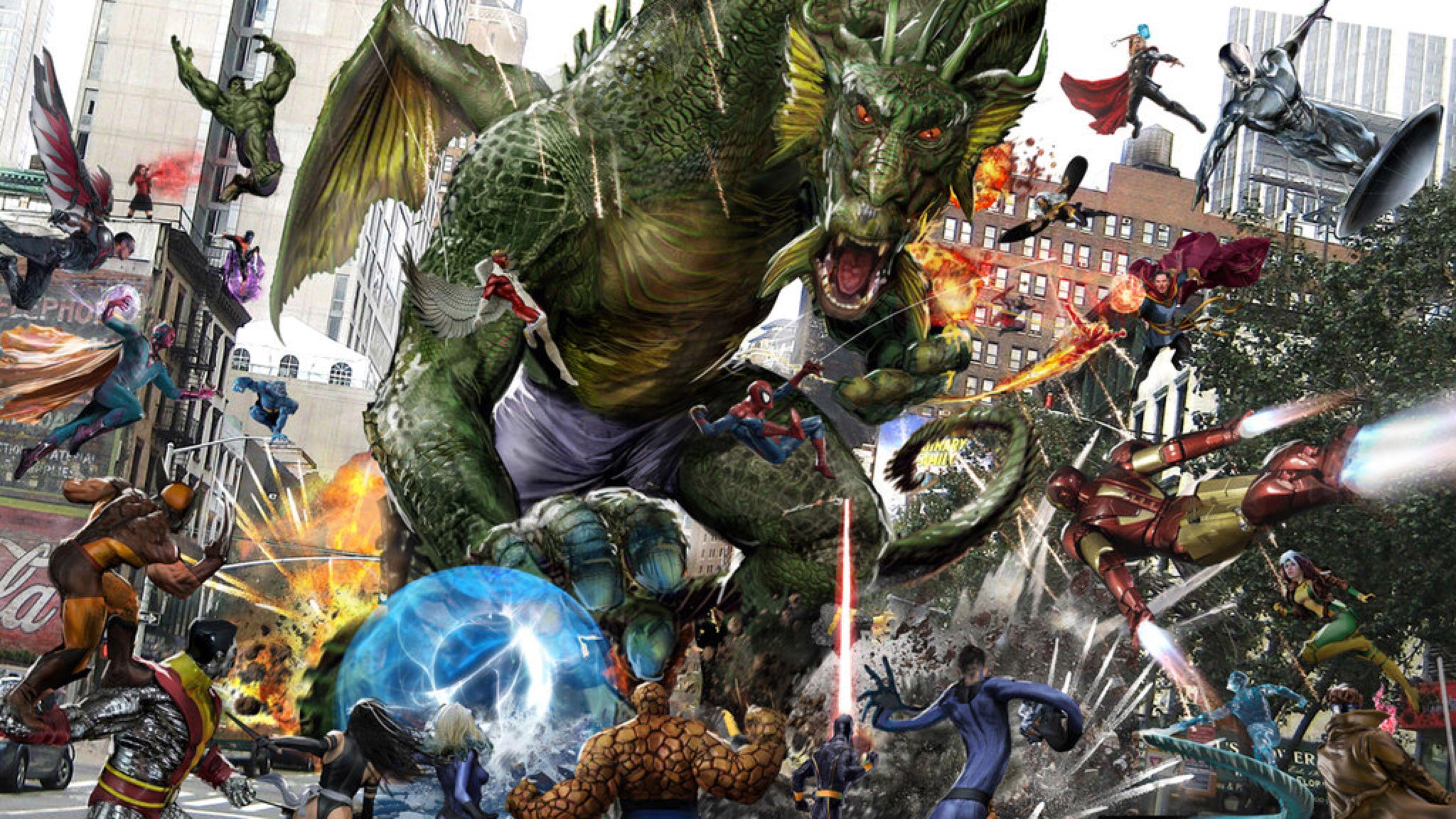 Fin Fang Foom WIP by uncannyknack | Avengers wallpaper, Special ...