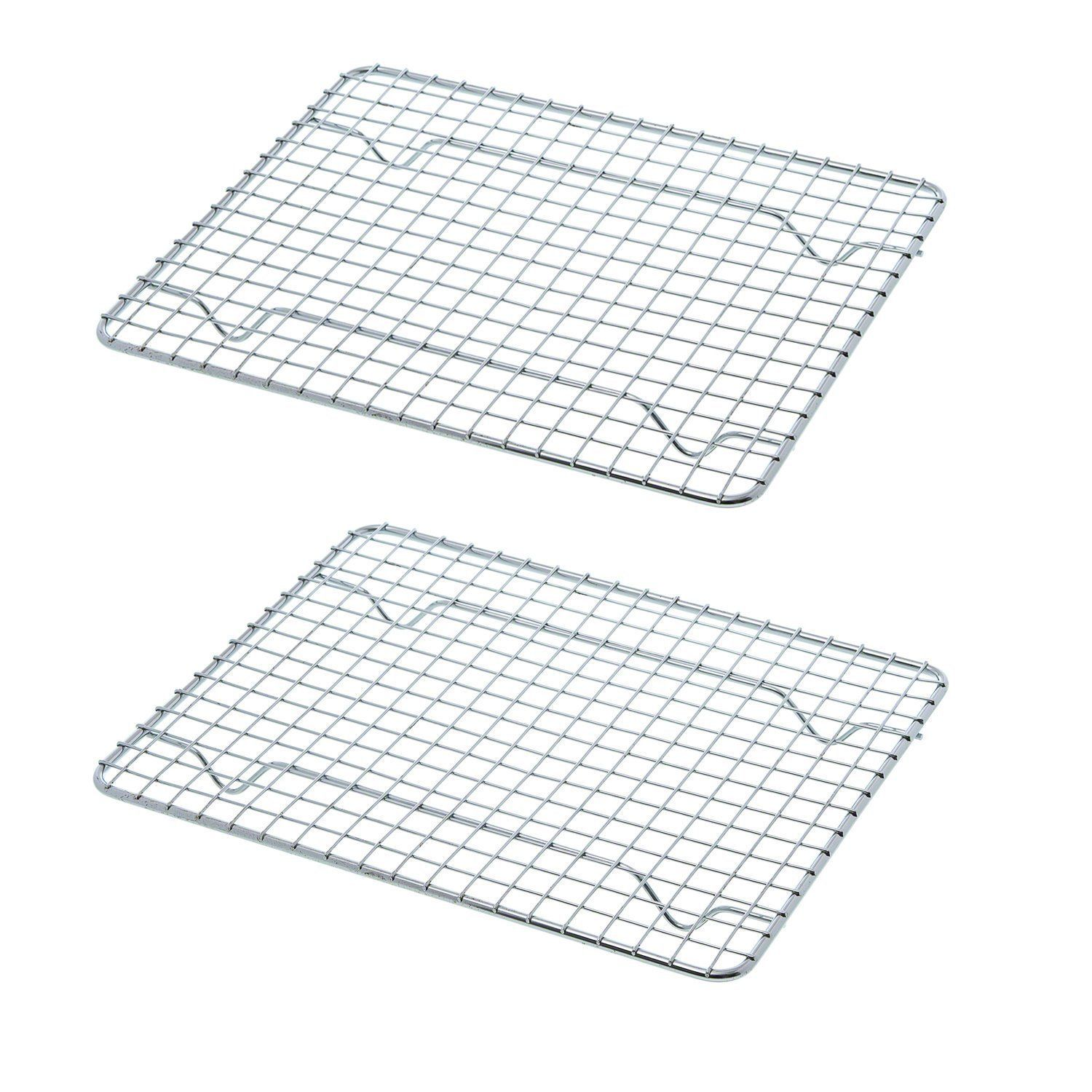 Chef World Set of 2 Full Size 10 x 18 Inches Cross Wire Grid Cooling ...