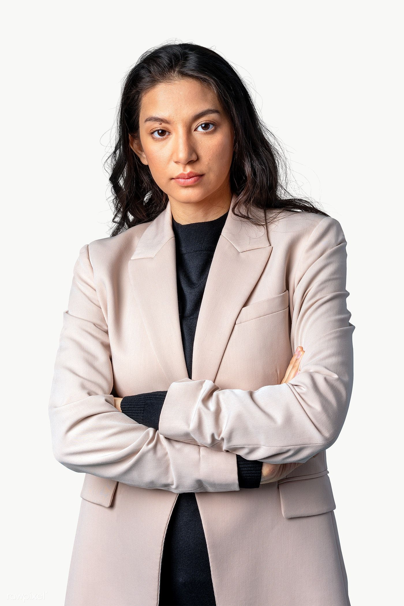 Download Premium Png Of Middle Eastern Woman In A Blazer Transparent Png In 2020 Business Women Modesty Fashion Winter Women