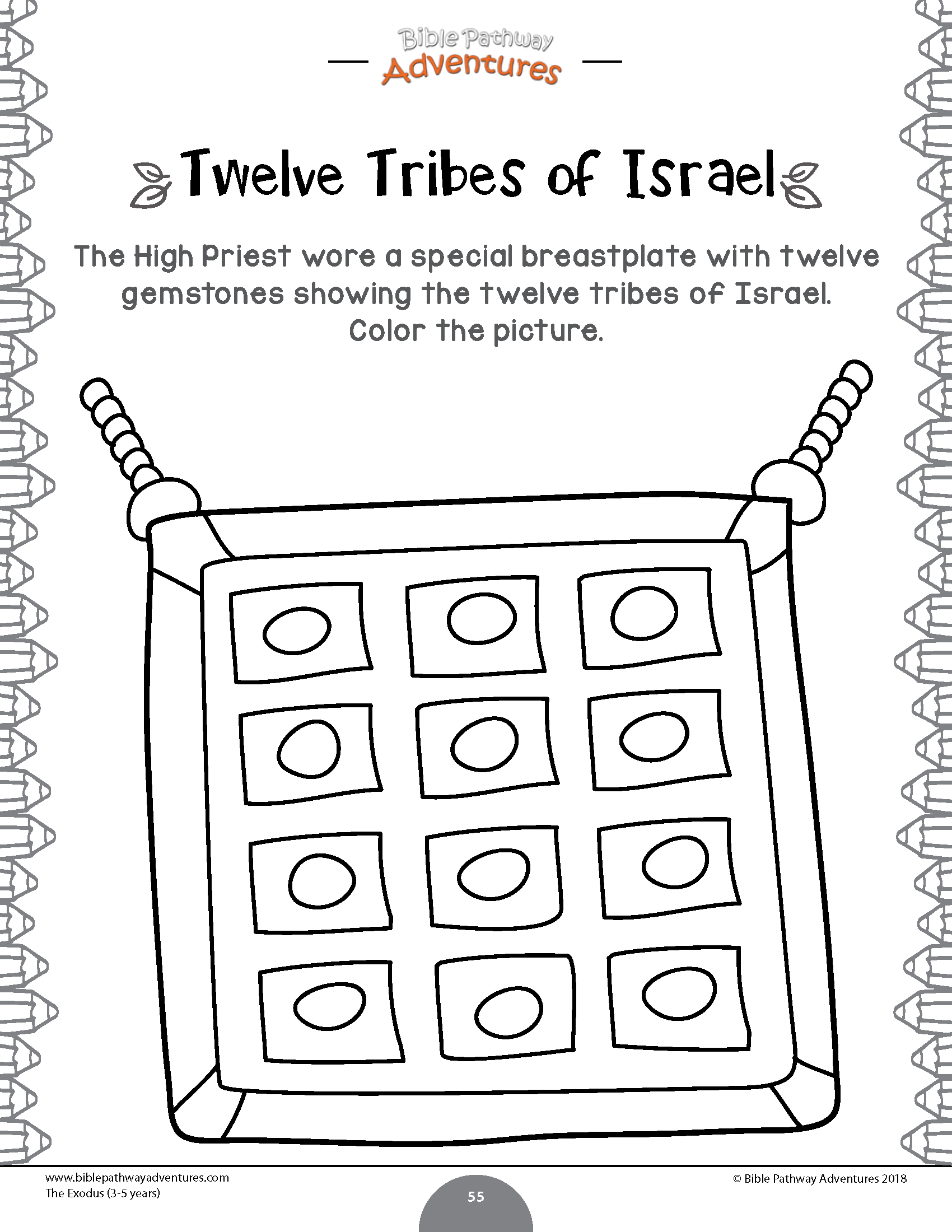 Twelve Tribes Of Israel Activity For Kids
