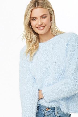 6ad8e1eb1 Fuzzy Popcorn Knit Sweater