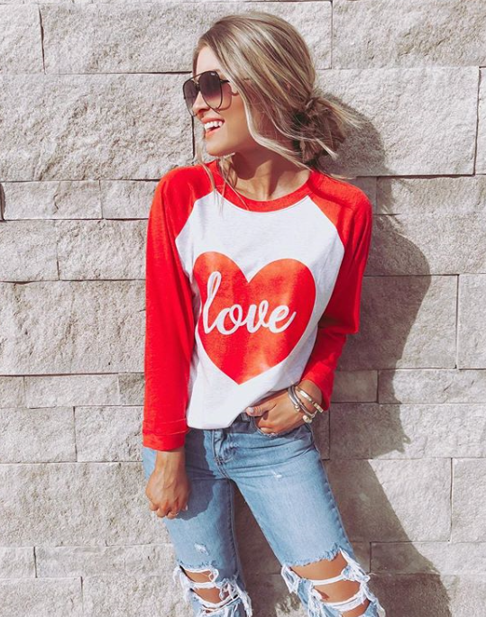 d226dbad We are just LOVING @kristinncoffey in one of our Valentine's Day graphic  tees!