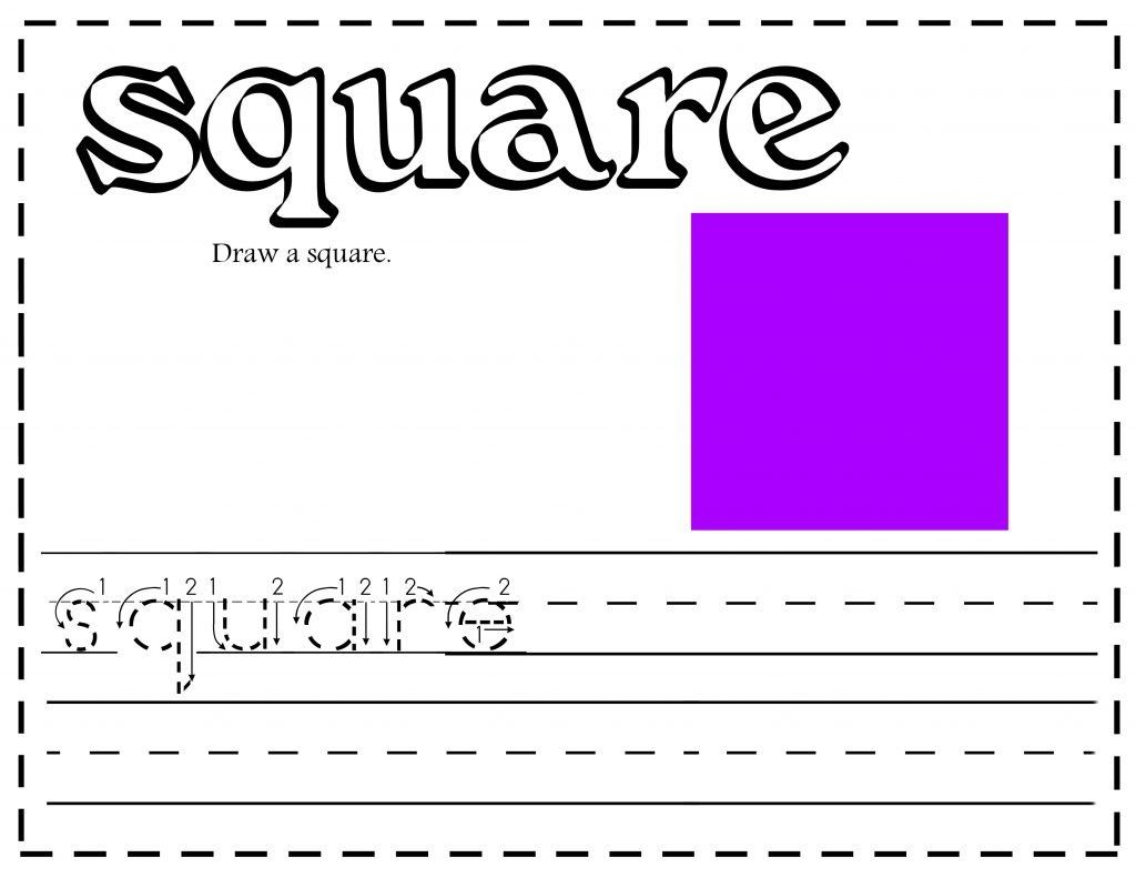 Free Shapes Printable Worksheets Writing Activities