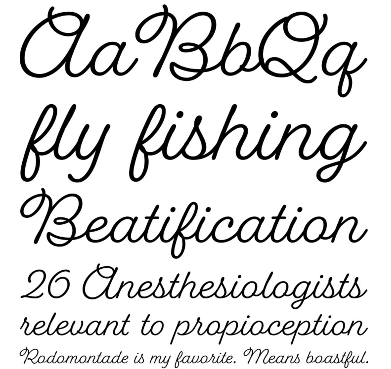 Font Name Fairwater Script Designer Laura Worthington