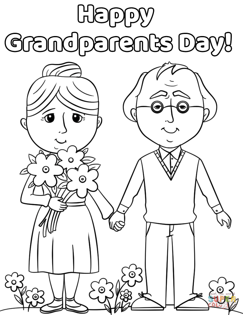 Happy Grandparents Day! coloring page | Free Printable ...