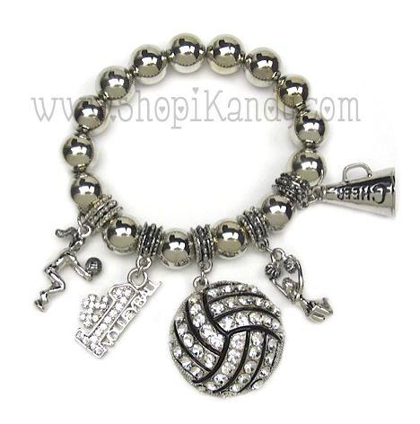 Volleyball Charm Bracelet Www Shopikandy Com Super Cute Charm Bracelet Bracelets Jewelry