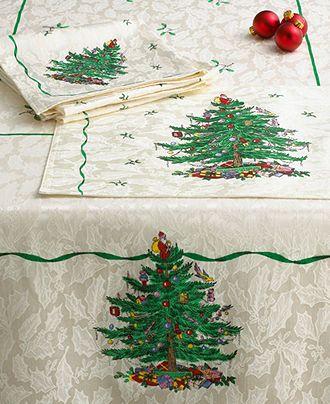 O Christmas Tree Spode Tablecloth Holiday Macys Buy Now