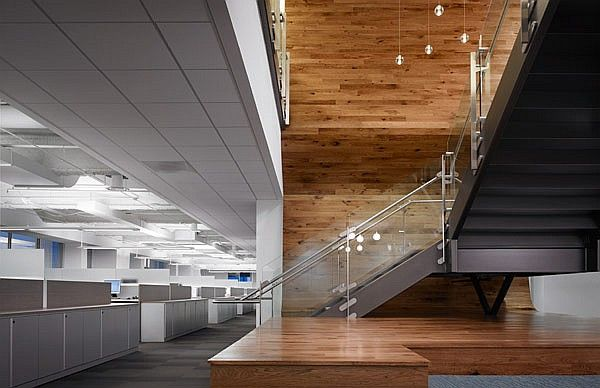 TPG Architecture's office interiors for Weber Shandwick in Chicago. Photo courtesy of the architect.