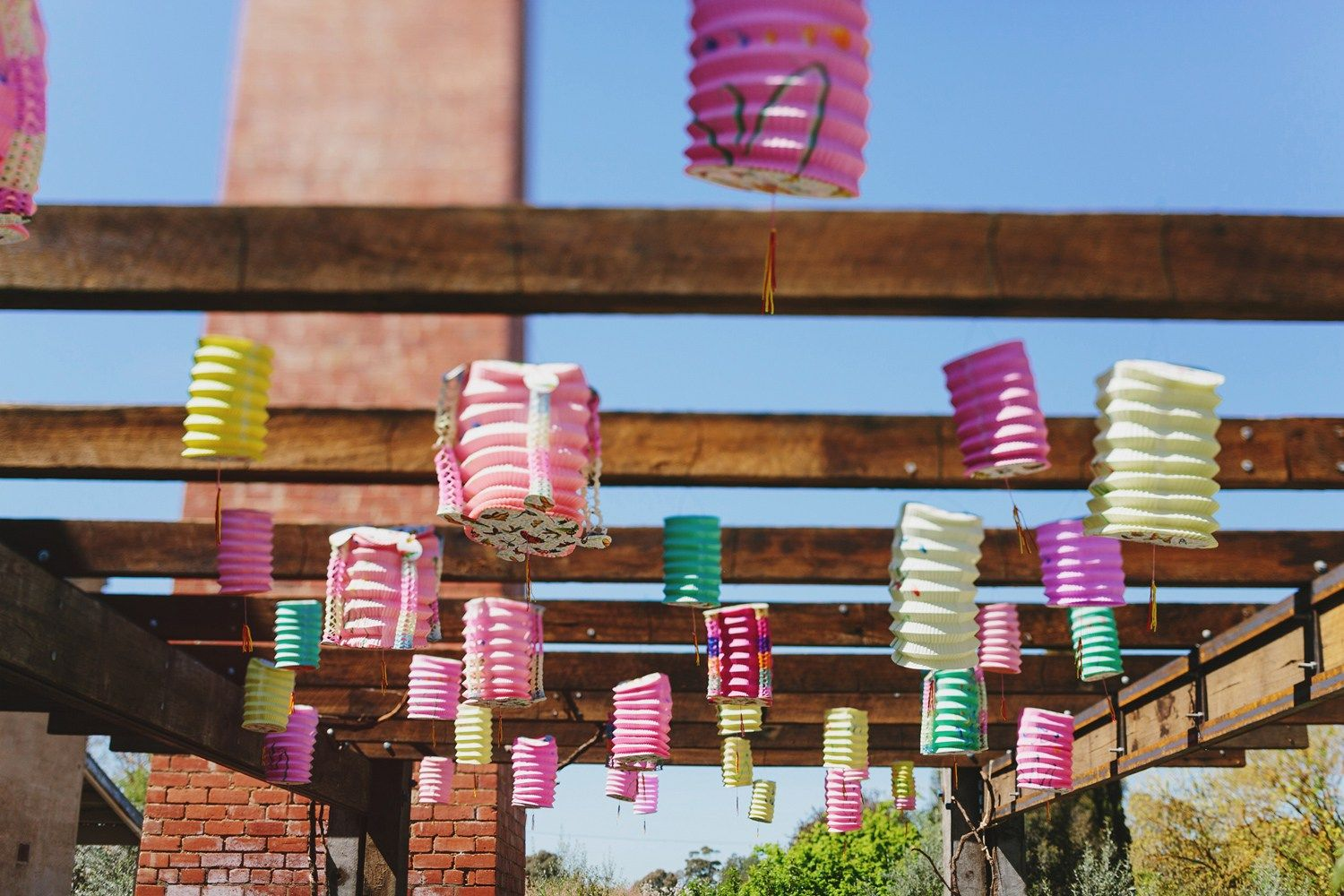 Colourful lantern at wedding ceremony | fabmood.com #weddingceremony #rusticwedding #factorywedding