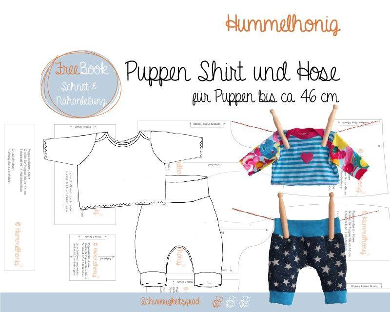15 – Geschenkt: Freebook Puppenshirt und -hose | Schnittmuster ...