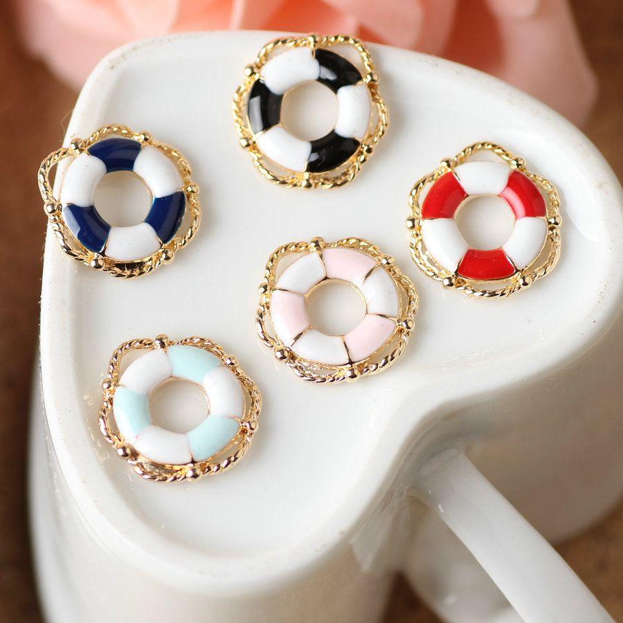 Mini order pcslot lifebuoy shape oil drop jewelry necklace