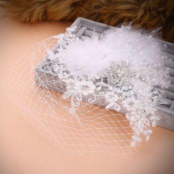 weißem tüll juliet kappe vogelkäfig hochzeit zubehör schleier strass perle braut vogelkäfig hochzeit schleier kurz