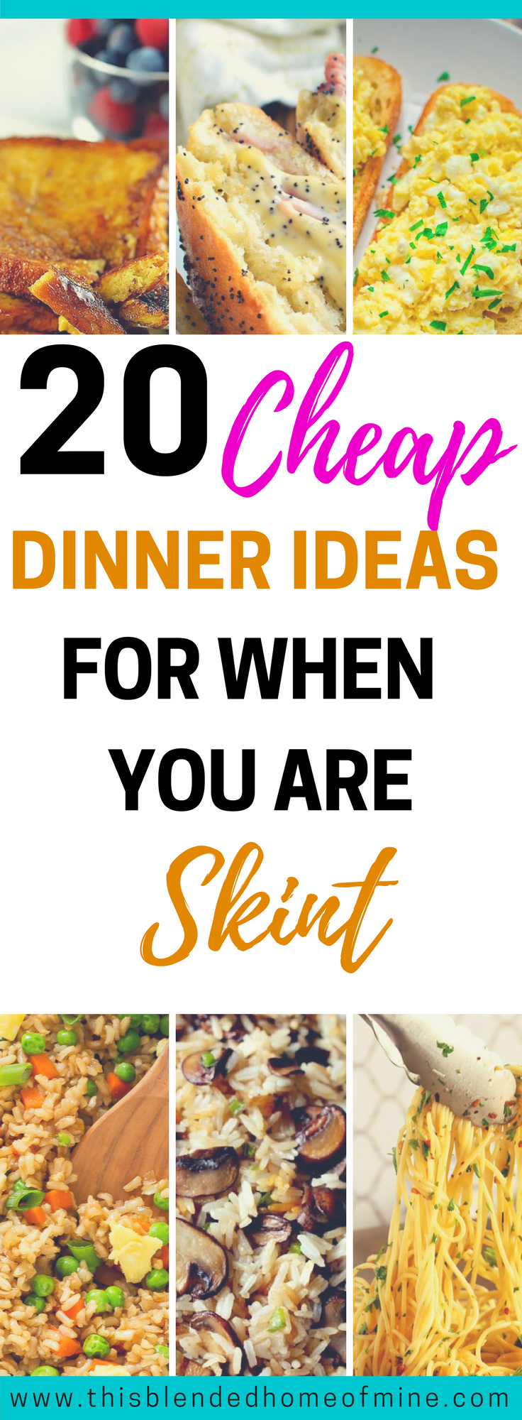 20 cheap dinner ideas for when your are skint on money food or