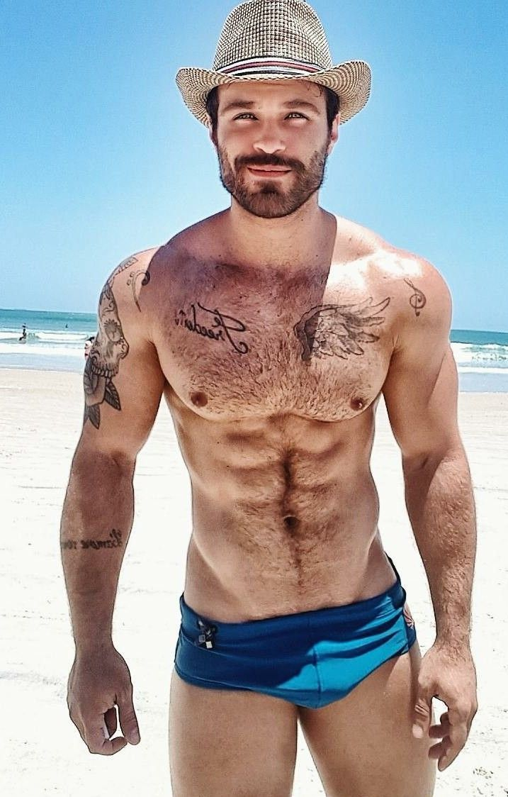 man beach Hairy