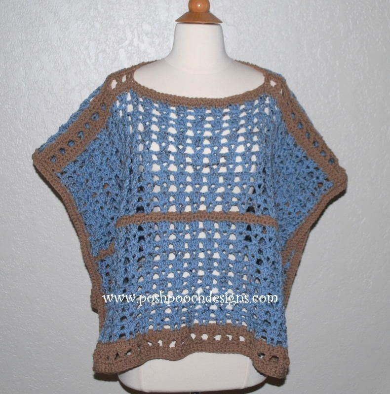 Sand and Sea Crochet Poncho | Ponchos, Tejidos de ganchillo y Dos agujas