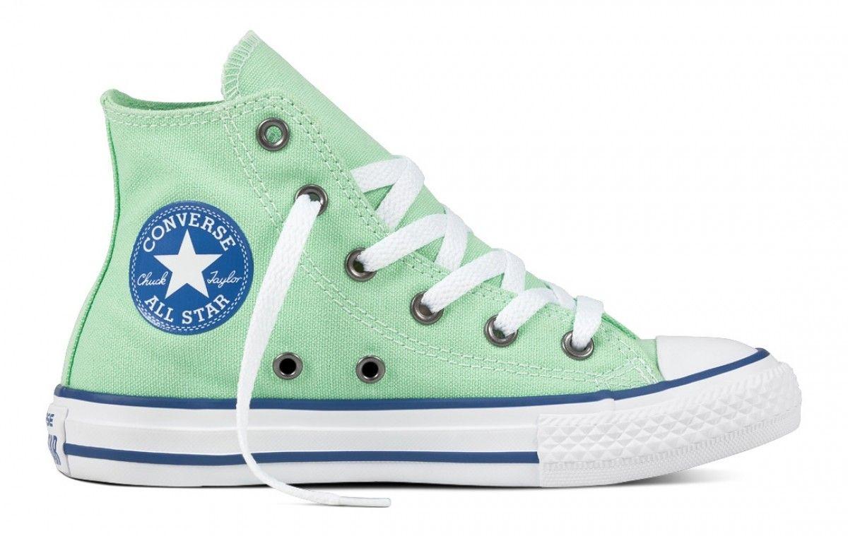 Converse Chuck Taylor All Star Kids Hi Top Illusion Green