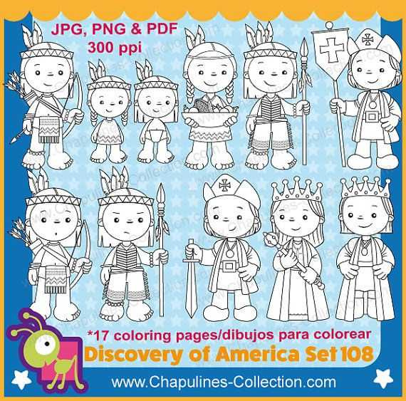 Discovery of America, Black and White, Columbus Clipart, Columbus ...