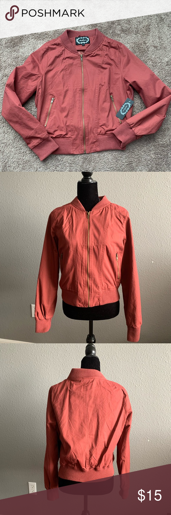 Nwt Ambiance Boutique Bomber Jacket Rose Gold Clothes Design Fashion Fashion Tips [ 1740 x 580 Pixel ]