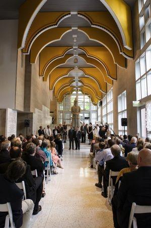An Urban Indoor Wedding Ceremony Seattle Art Museum Washington