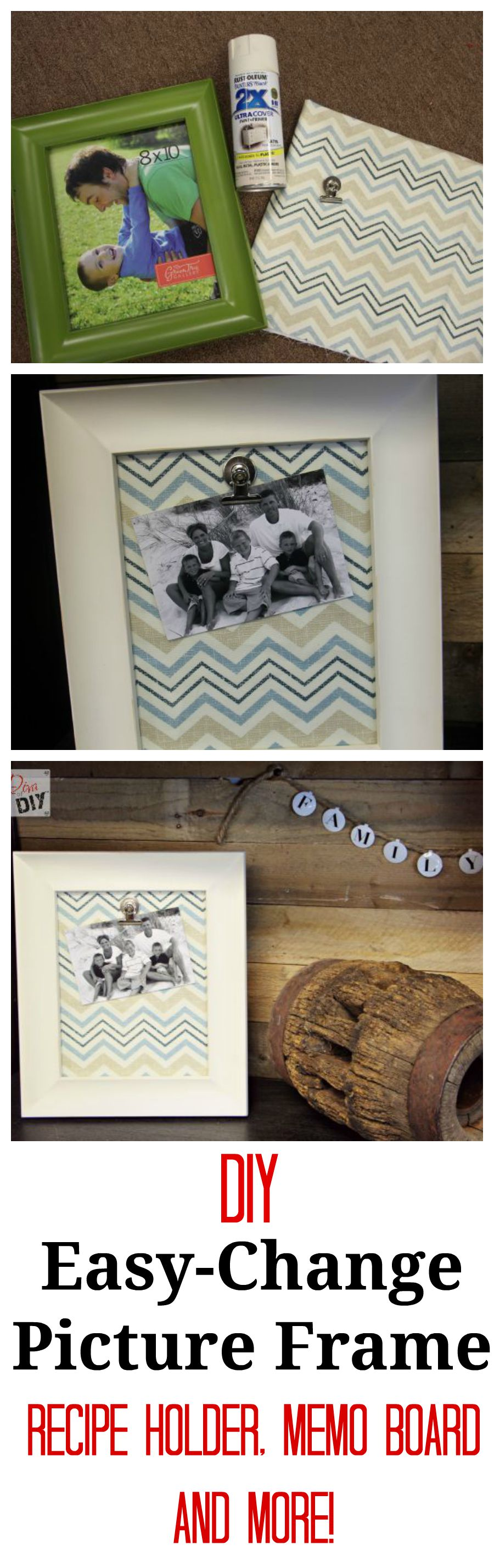 Make easy change picture frames and memo boards change dyi make easy change picture frames and memo boards jeuxipadfo Images