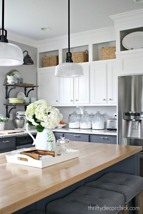 10 ways to decorate above kitchen cabinets | new home | pinterest