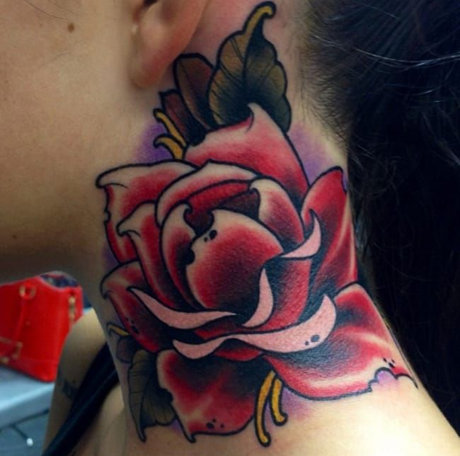 fd79d40b3047b 15 Beautiful Rose Neck Tattoos | Tattoos | Rose neck tattoo, Tattoos ...