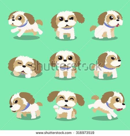 Shih Tzu Cartoon Pesquisa Google Cartoon Dog Drawing Puppy