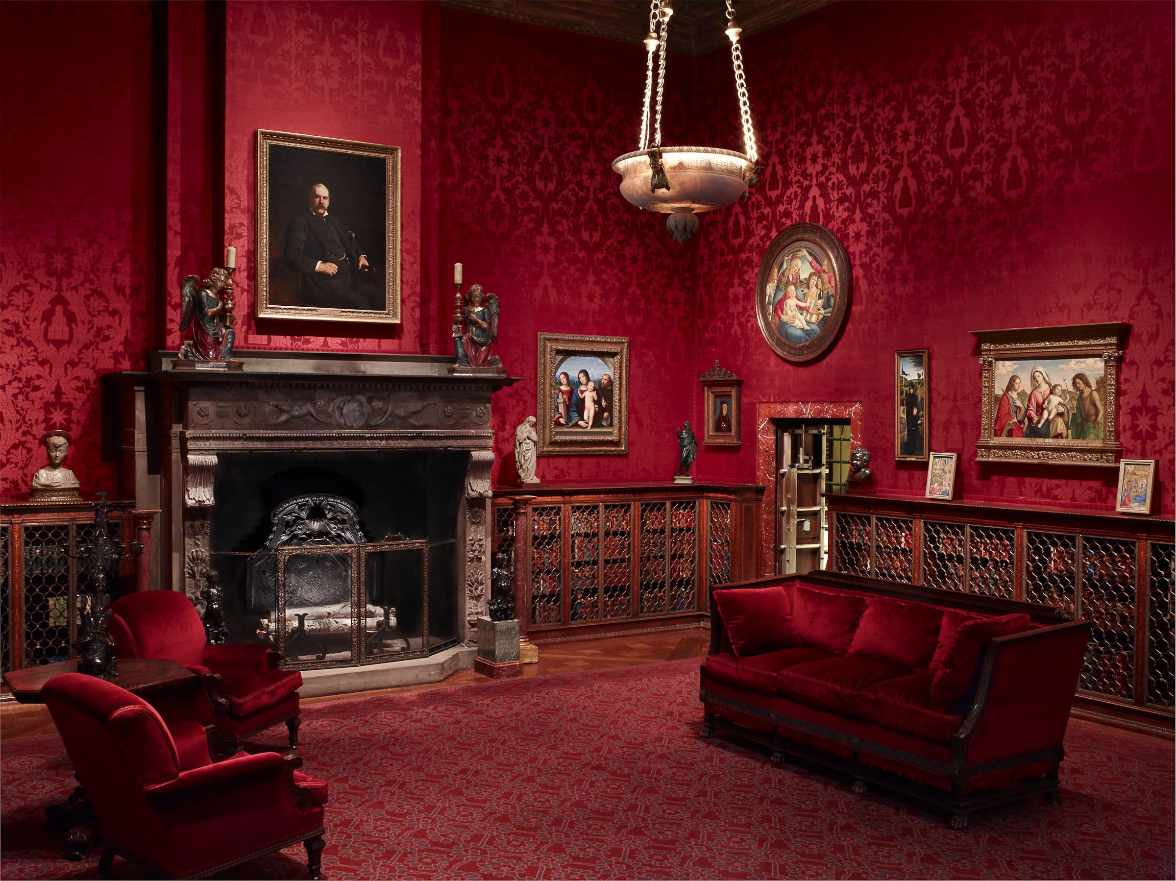 Red Living Rum Gothic Living Rooms Victorian Interior Gothic Interior