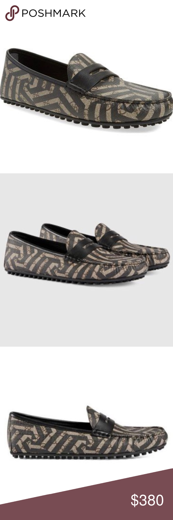 bc4331654e1a New Gucci Caleido Driving Loafer canvas leather ❤ New Gucci Driving shoe in  signature GG Supreme with graphic Caleido print. Size - UK SIZE WILL BE  STAMP ...
