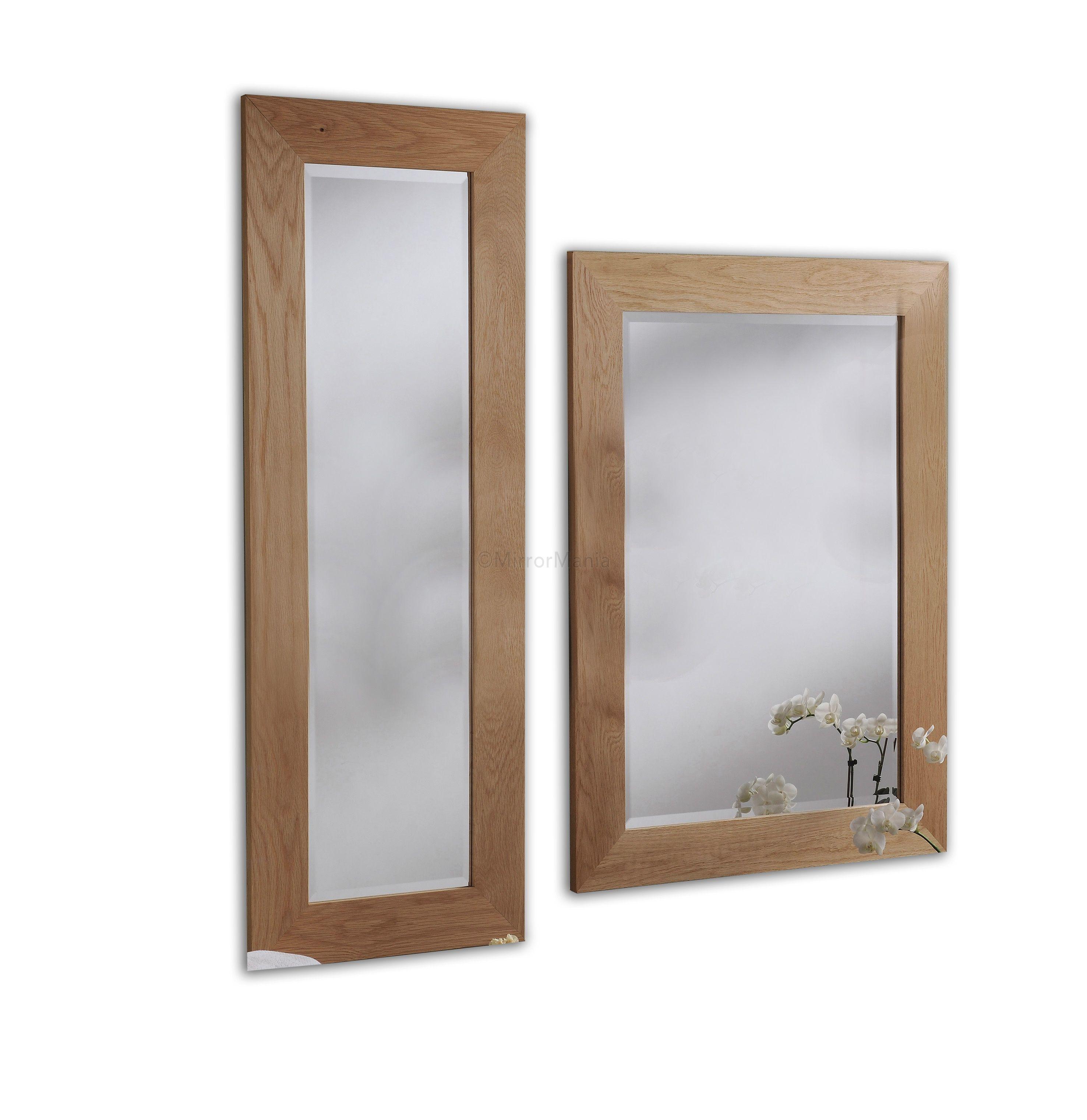 Monica Natural Oak Framed Handmade Wall Mirrors