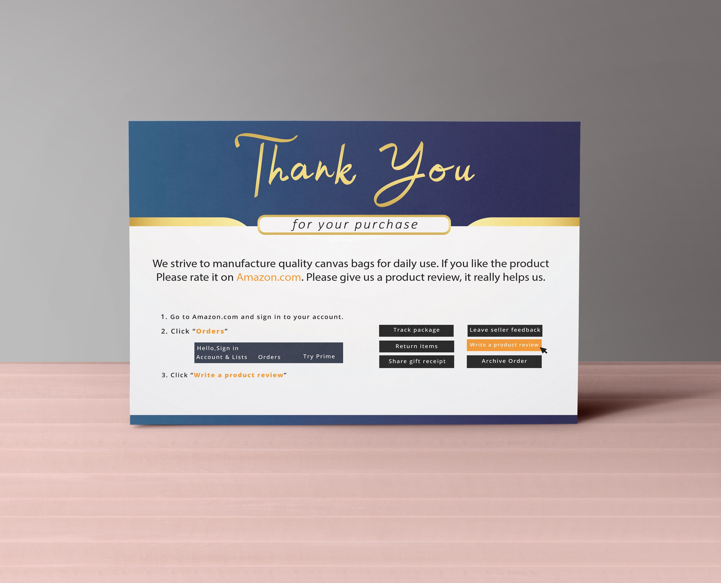Sadiasultanasa2 I Will Design Amazon Thank You Card Product Insert Package Insert Postcards For 5 On Fiverr Com Thank You Cards Thank You Card Design Thank You Card Template