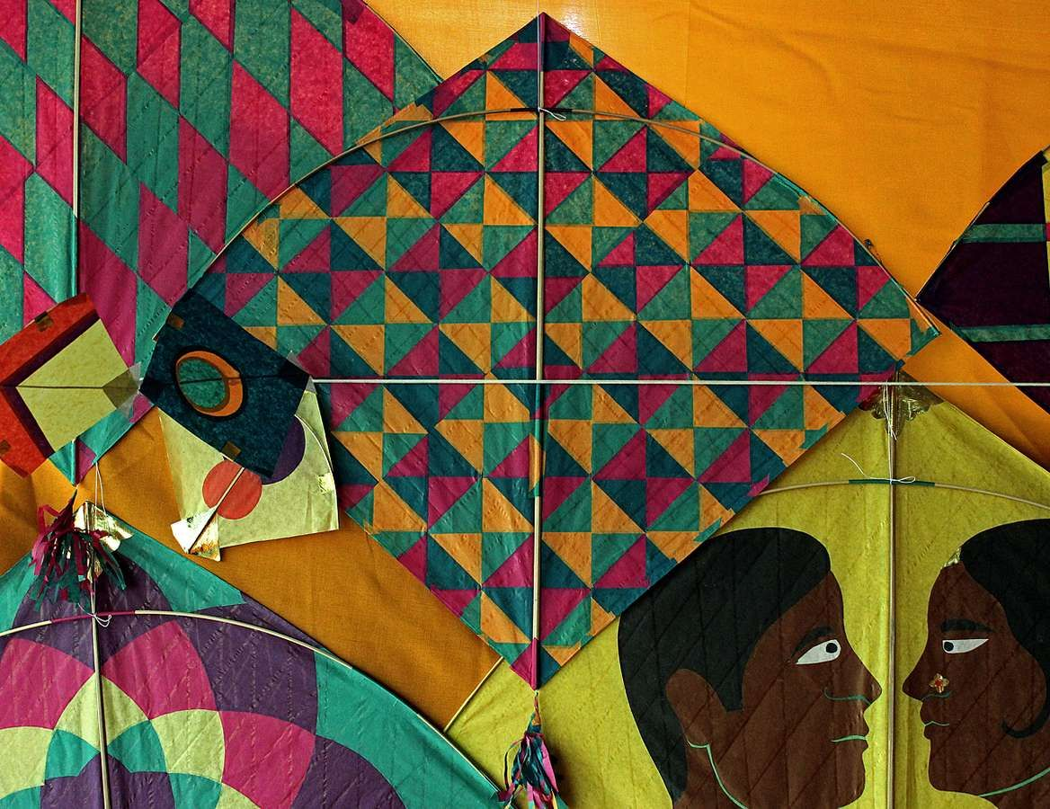 Kites are not just for flying they can be beautiful for Decoration kite