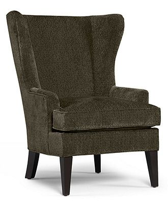 Martha Stewart Collection Saybridge Fabric Living Room Accent Wing Chair Custom Colors