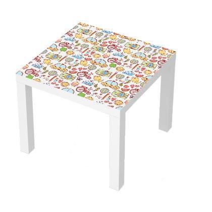 Stickers Pour Table Basse Lack 55x55 Transports Kids Meuble