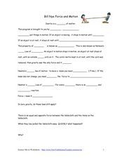Bill Nye Motion And Friction Worksheet Worksheets For Kids Bill