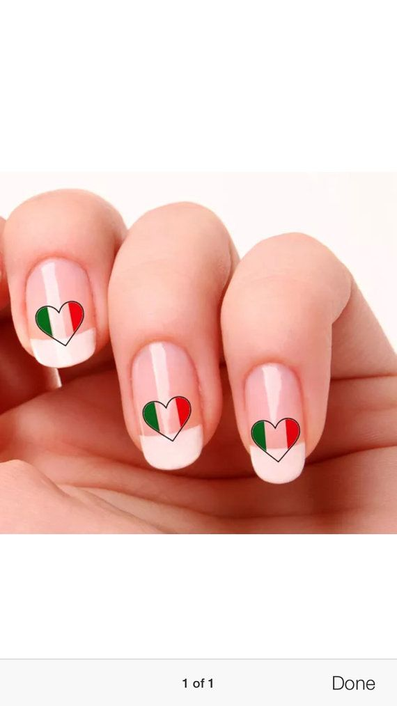 Nail Art Italy Flag Stickers by Italianandmore on Etsy | Festa ...