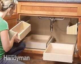 DIY Slide Out Drawers ~ This should be done in every kitchen..