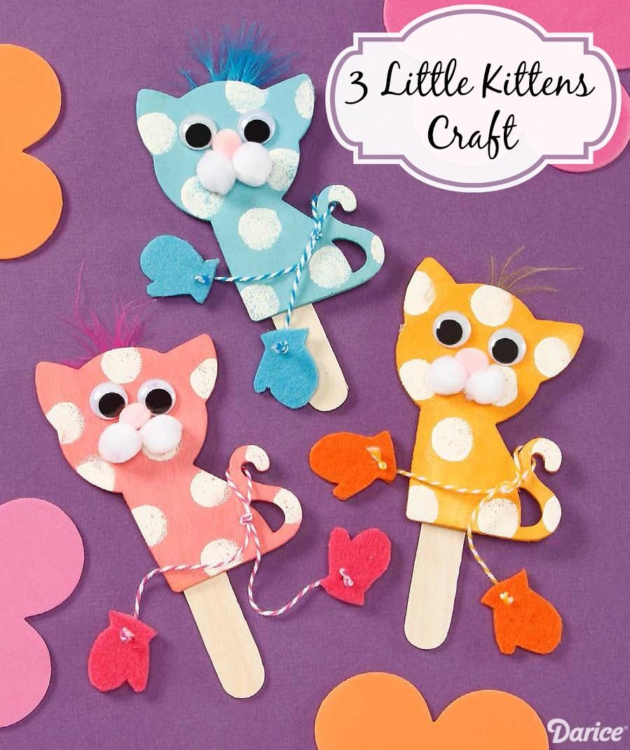 3 Little Kittens With Mittens Craft Podelki Dlya Doshkolnikov