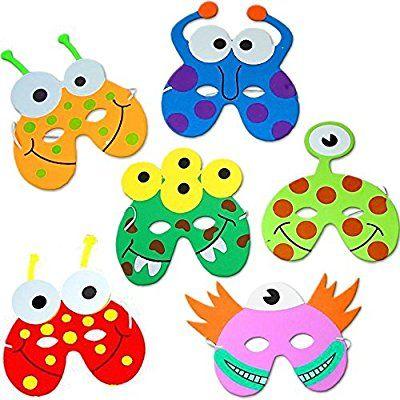 german trendseller 8 x monster masken aus schaumstoff f r kinder monster party ideal. Black Bedroom Furniture Sets. Home Design Ideas