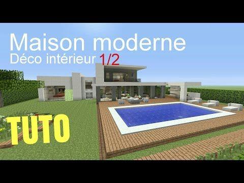 Tuto Minecraft Maison Moderne Déco Intérieur 1 2 Ps4 Ps3