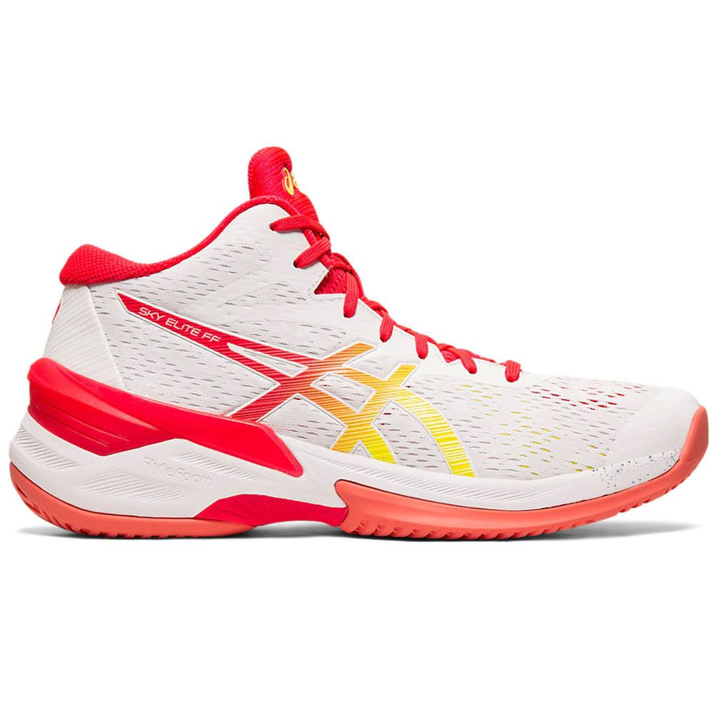 Asics Women S Sky Elite Ff Mt White Laser Pink Volleyball Shoes Nike Volleyball Shoes Asics Women