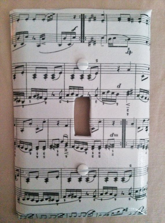 Music Notes Light Switch And Plug Outlet Plate By