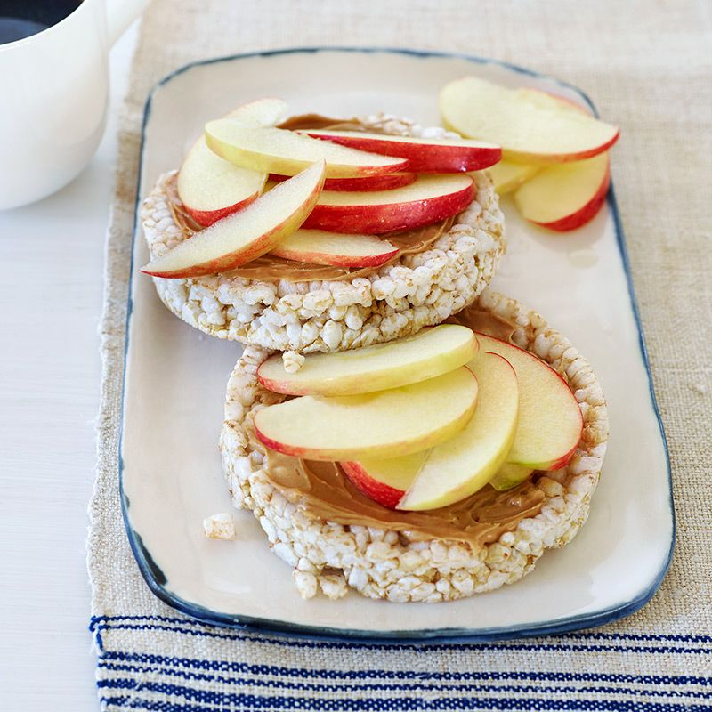 Peanut Butter and Apple Rice Cakes Recipe in 2020 Rice