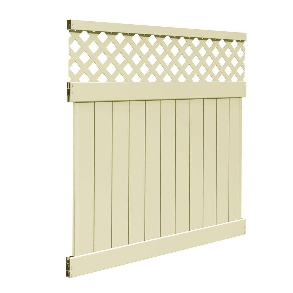 Veranda Valley 6 Ft H X 6 Ft W Sand Vinyl Fence Panel Kit