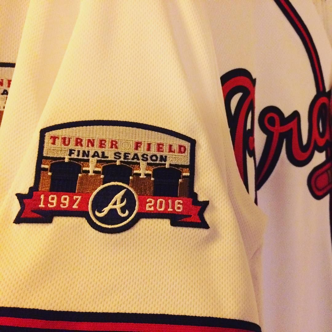 Atlanta Braves On Instagram Here S The Turner Field Final Season Patch We Ll Be Wearing This Season Atlanta Braves Atlanta Braves Baseball Braves