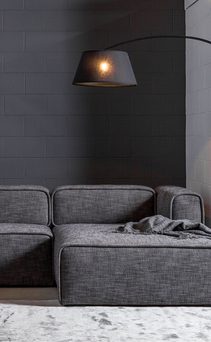 Gray Modular Right Sectional Upholstered Article Quadra