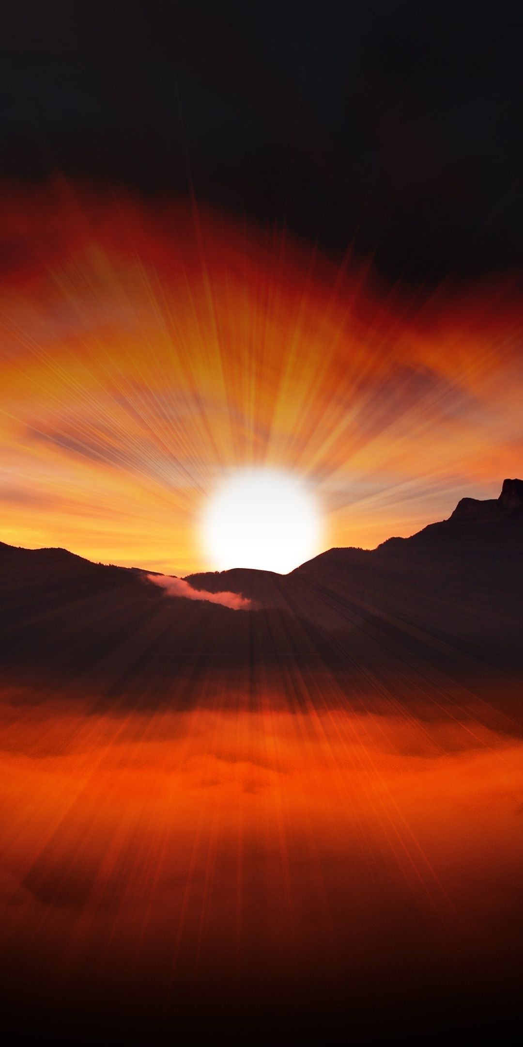 Sunset Landscape Silhouette Mountains 1080x2160 Wallpaper Landscape Silhouette Sunset Landscape Sunrise Wallpaper